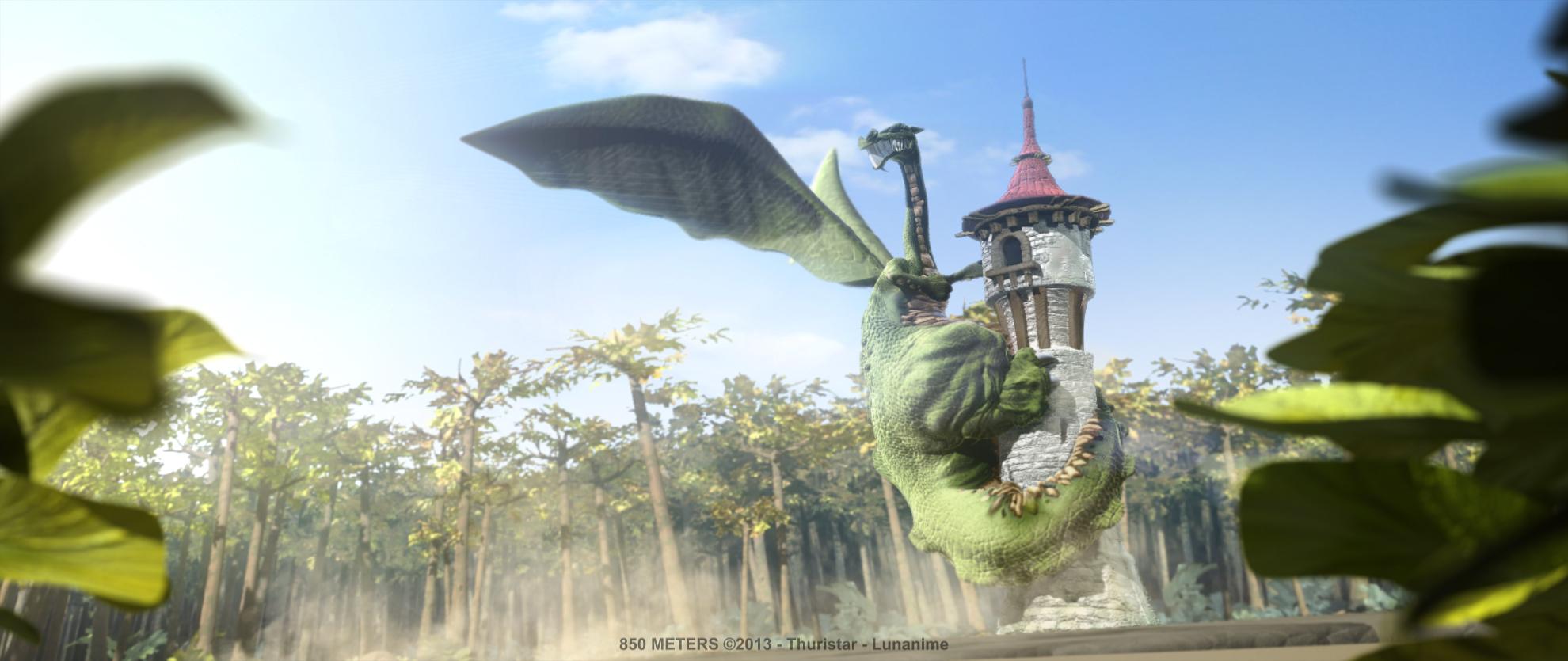 850 meters 850 mètres dragon tower donjon