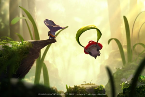 Mush-Mush and the Mushables Mush-Mush et les Champotes forest Luis leaf parachute