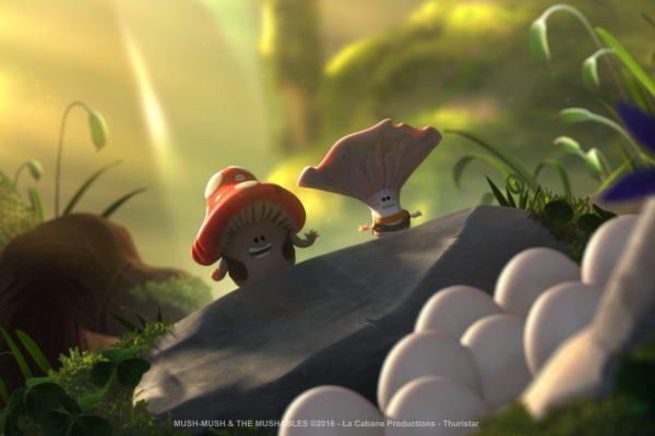 Mush-Mush and the Mushables Mush-Mush et les Champotes forest mushrooms mushlers hiding singing