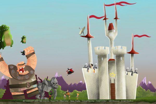 My Knight and Me Mon Chevalier et Moi 2D villains attack castle
